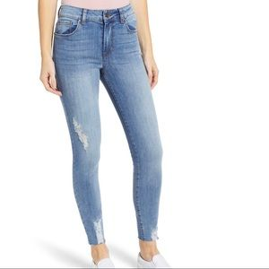 BP. Distressed High Waisted Skinny Jeans